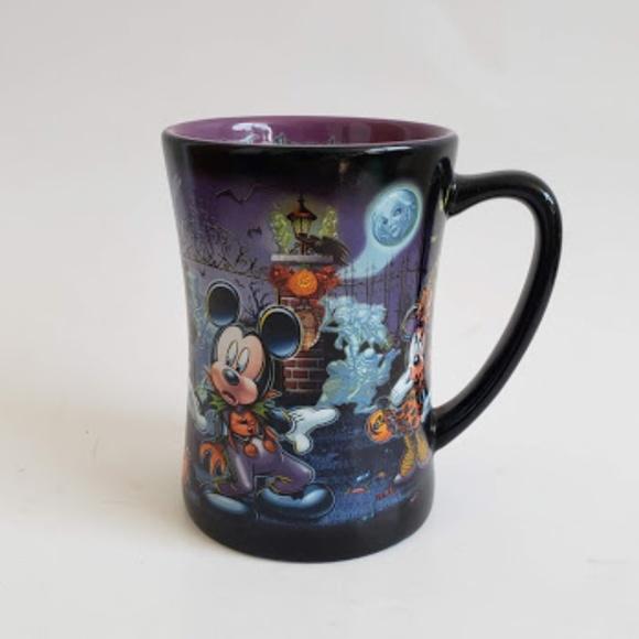 Disney Park theme characters halloween mug